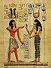 Isis and Ramsess II 16 x12 , Papyrus Painting