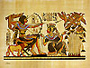 King Tutankhamun & Queen Hunting - Papyrus Painting, 12x16