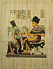 King Tutankhamon & His Wife 12 x16 , Papyrus Painting