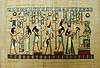 Gods, Goddesses, King and Queen 12 x16  Papyrus Painting