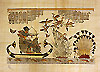 King Tutankhamon Hunting 12 x16  Papyrus Painting