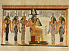 Osiris and Five Goddesses 12 x16  Papyrus Painting