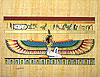 Winged Maat, 12 x16  Papyrus Painting