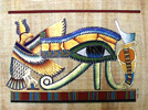 The Eye of Horus 24 x16  Papyrus Painting