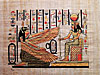 Maat and Hator 12 x16  Papyrus Painting