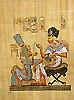 King Tutankhamon and His Wife 16x12 Papyrus Painting