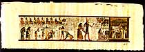 Hall of Judgment Papyrus Painting, 12 x32