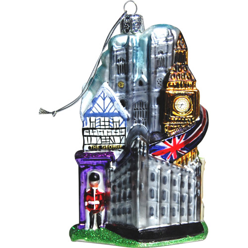 Christmas London Themed Ornament Featuring London City