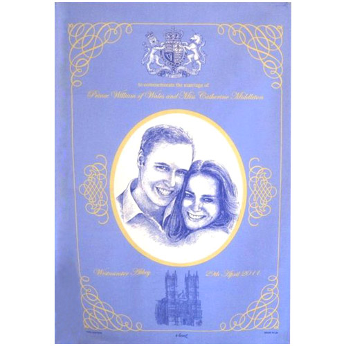 Prince William And Kate Commemorative Tea Towel