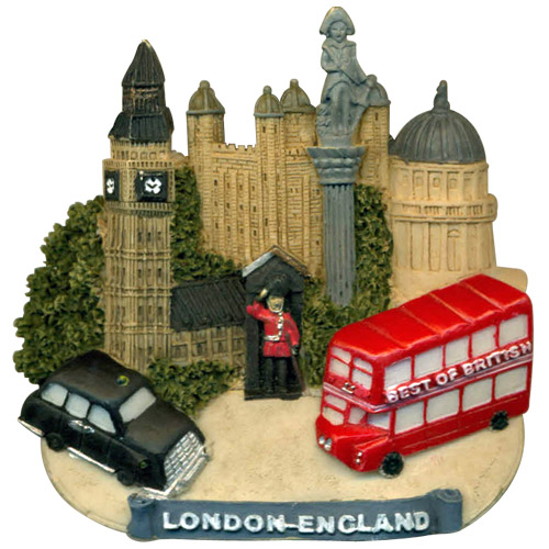 London England Collage 3d Magnet