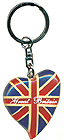 Great Britain Souvenir Keychain - Union Jack Heart