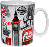 London Collage Fine Porcelain Mug