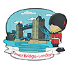 Tower Bridge and Guardsman Rubber Magnets