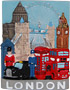 London Collage Souvenir Fridge Magnet
