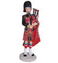 Scottish Piper Figurine, 6.25H