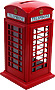 Telephone Box Money Boxes Die Cast, 4.5 H
