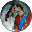 Prince William and Kate Wedding Collection - Crystal Glass Paperweight