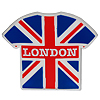 Union Jack with London T-Shirt Rubber Magnet