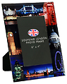 London Night View Glass Photo Frame, 6 x4