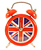 Union Jack Mini Alarm Table Clock - 3 H