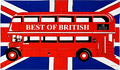 London Bus on Union Jack Tea Towel
