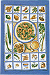 Oriental Kitchen, Linen Tea Towel