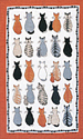 Cats in Waiting - Linen Tea Towel