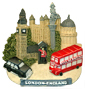 London - England Collage 3D Magnet