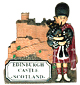 Scottish Piper & Edinburgh Castle Magnet