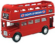 Pull Back Die Cast Open Topped London Bus, 4.5L