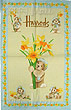 Harrods Tea Towel, Daffodil Teddies