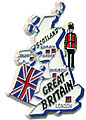 Great Britain Country Map Magnet