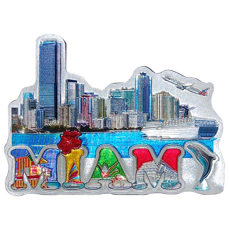 Miami Souvenir Refrigerator Magnet