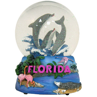 """Globes For Sale >> Florida Snow Globe in Musical, 5.5""""H"""