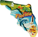 Florida Scenes State Map - Large Acrylic Magnet