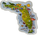Large Florida State Map Fridge Magnet in Acrylic