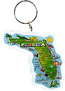 Florida State Map Keychain in Acrylic