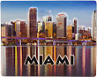 Miami Fridge Magnet - 3D Embossed Plastic