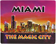 Miami, The Magic City Fridge Magnet - 3D Embossed Plastic