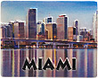 Miami Fridge Magnet - 3D Embossed Ceramic
