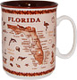 Florida State Map Souvenir Mug - Brown