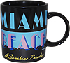 Miami Beach Black Mug