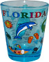 Florida State Map Souvenir Shot Glass - Blue