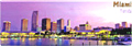 Panoramic View of Miami - Florida Souvenir Magnet, 4-5/8 L