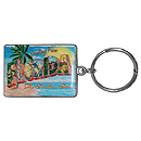 Greetings from Florida Souvenir Key Chain