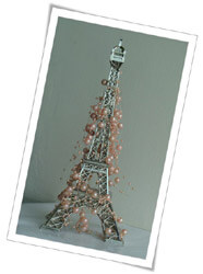 Eiffel Tower Decoartion with Pearls