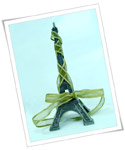 Eiffel Tower decoration with ribbon