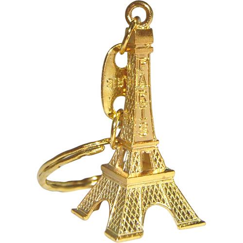 eiffel tower keychains gold color metal. Black Bedroom Furniture Sets. Home Design Ideas