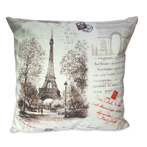Paris Eiffel Tower Pillow 16 X 16: Eiffel Tower Themed Decor