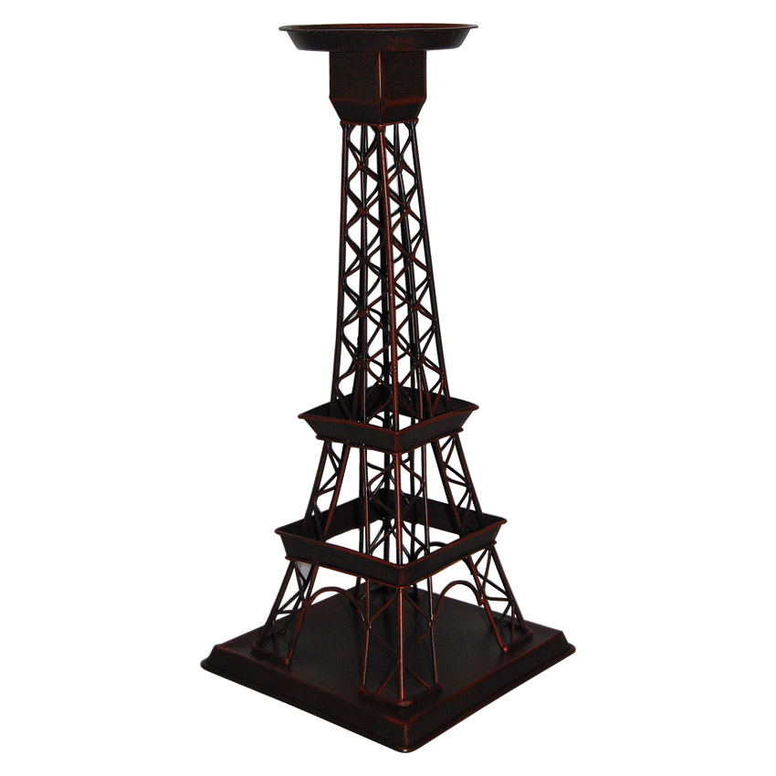 14 Eiffel Tower Chic Candle Holder Copper